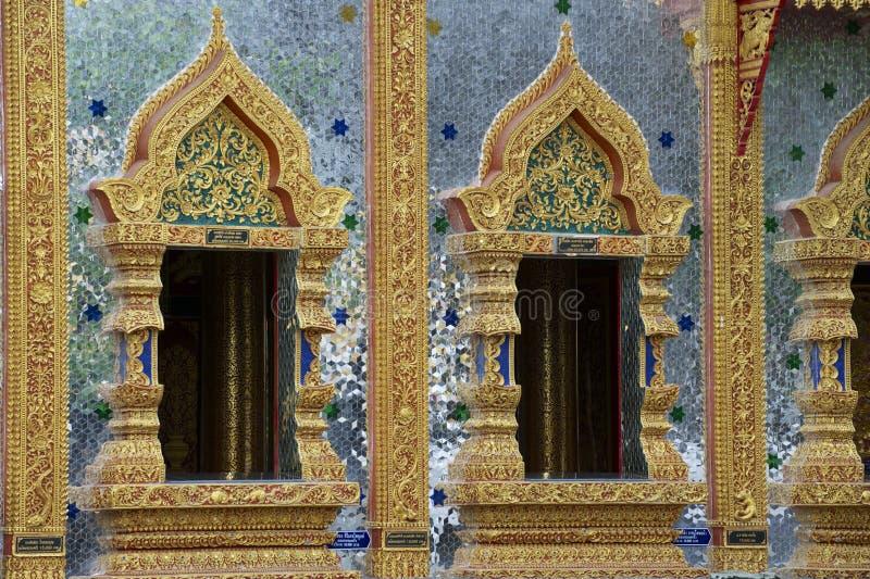 Wat Mani Phraison, Mae Sot, Tak-provincie, Thailand stock afbeeldingen