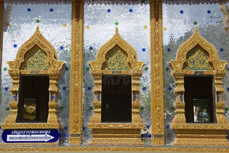 Wat Mani Phraison, Mae Sot, Tak-provincie, Thailand royalty-vrije stock afbeelding