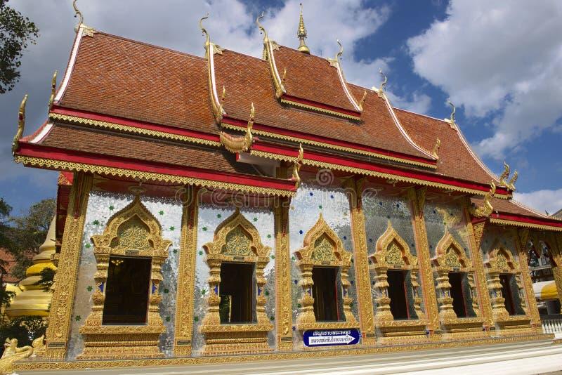 Wat Mani Phraison, Mae Sot, Tak-provincie, Thailand royalty-vrije stock fotografie