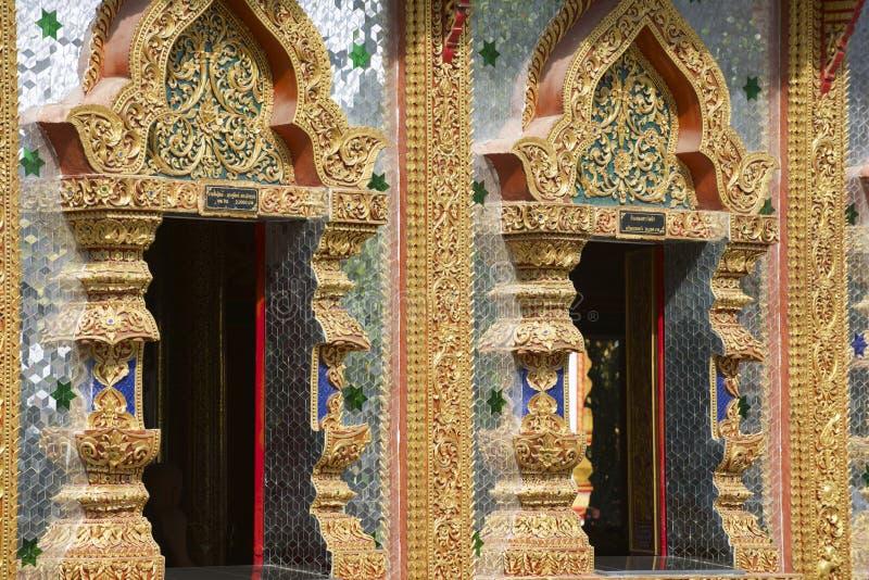 Wat Mani Phraison, Mae Sot, Tak-provincie, Thailand royalty-vrije stock foto