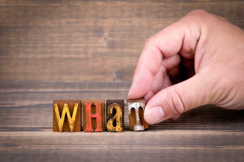 Wat, mededeling en zaken concep royalty-vrije stock afbeeldingen