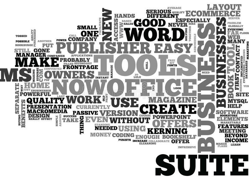 Wat Mej.office suite offer Zaken Eigenaarsword Wolk doet vector illustratie
