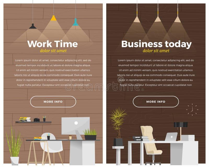 Wat moderne bureaustijl stock illustratie