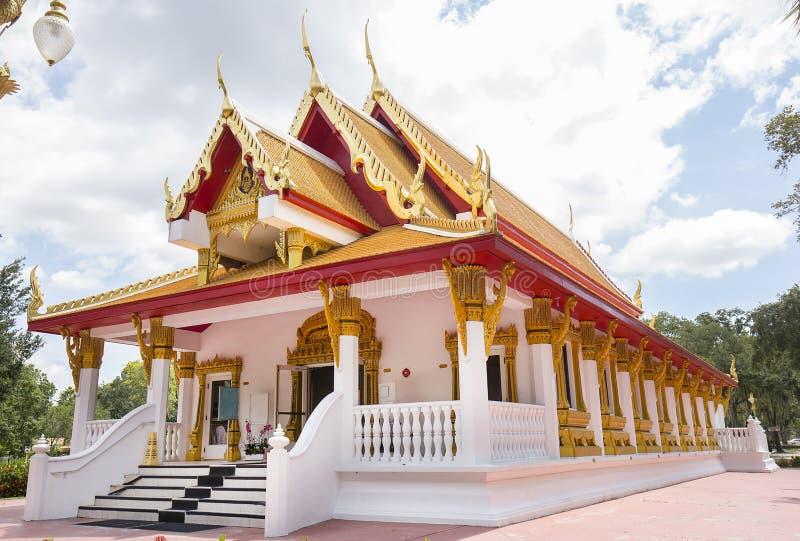 Wat Mongkolrata Buddhist Thai Temple. In Tampa, Florida royalty free stock image