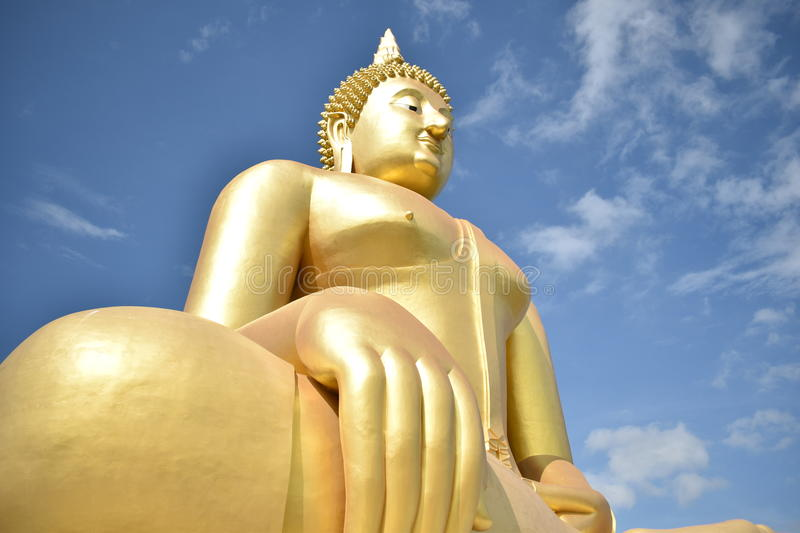 Wat Muang Monastery in Ang Thong Province stock afbeelding