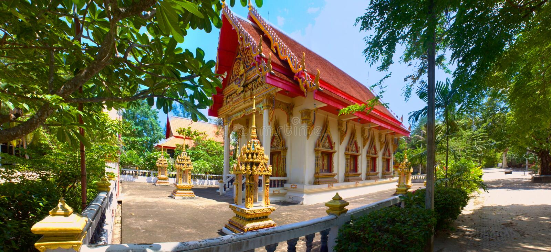 Wat Na Phra Lan, lan del Na di Laem, Koh Samui, Tailandia fotografie stock