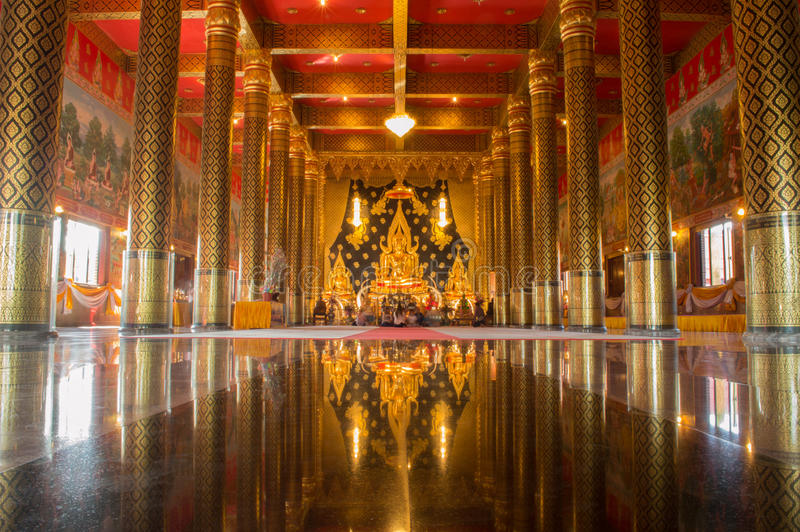 WAT NEARAMIT VIPASSANA, Loei, Таиланд стоковое изображение rf