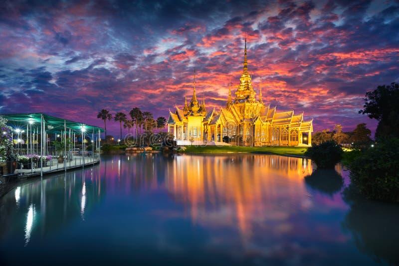 Wat None. At dusk, Nakhon Ratchasima province Thailand stock photos
