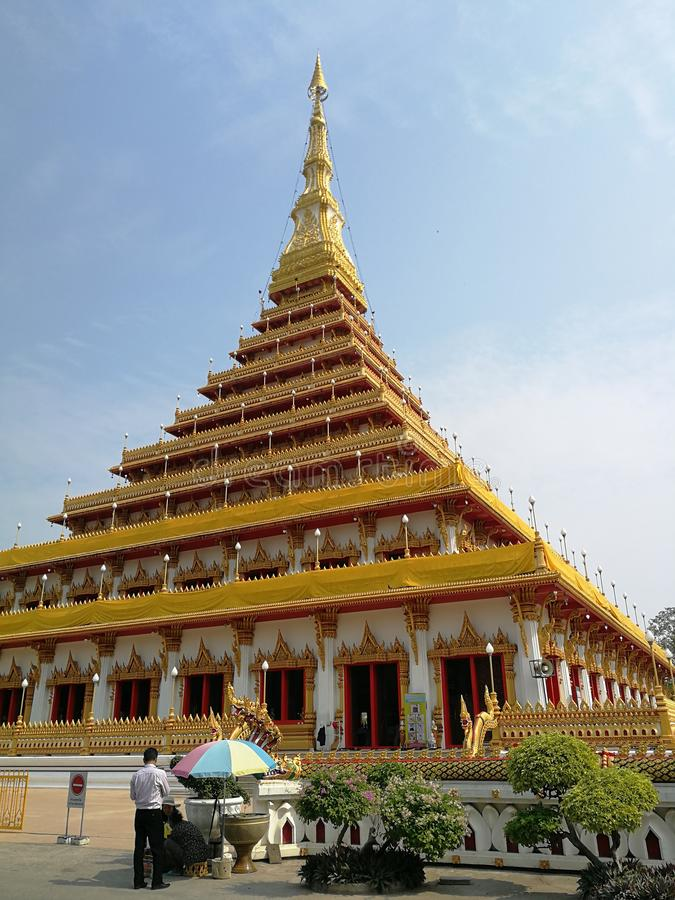 Wat Nong Waeng, beautiful temple in the north-eastern part of Thailand royalty free stock photo