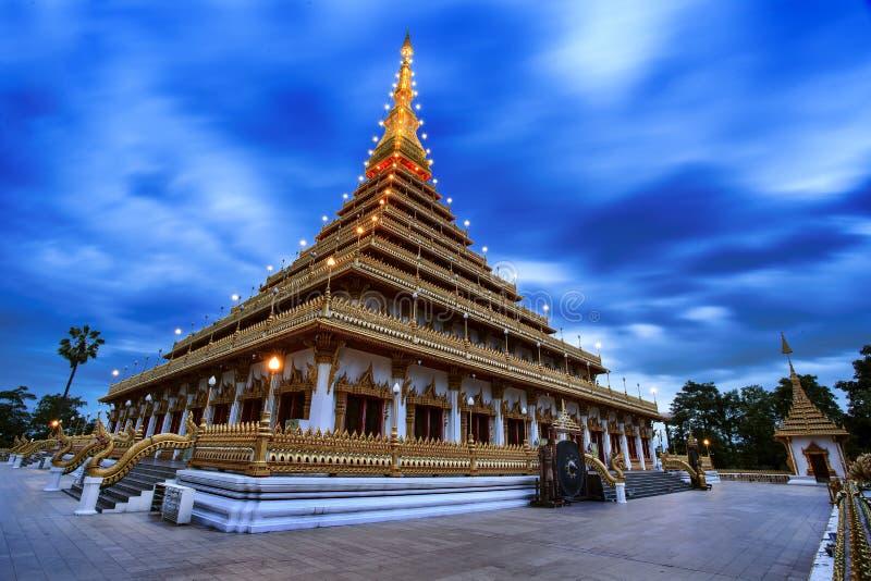 Wat Nong Waeng and blue sky at Khon Kaen,Thailand royalty free stock image