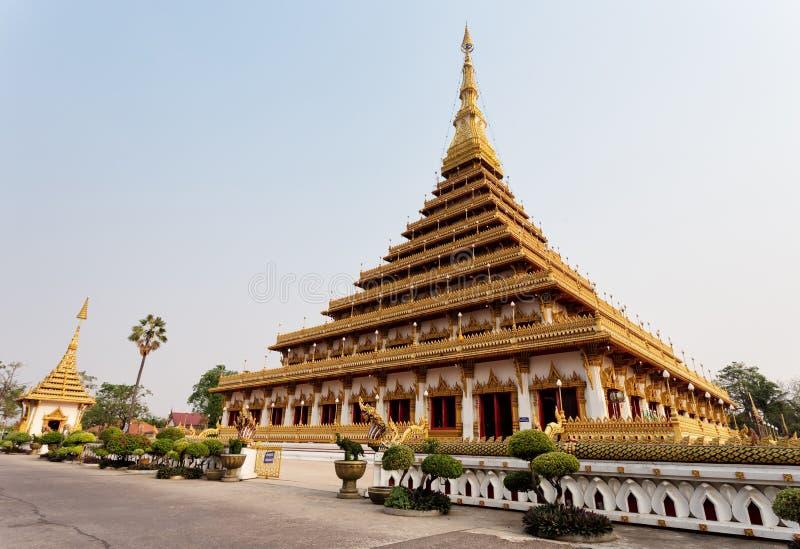 Wat Nong Waeng (tempel), Khonkaen Province, Thailand arkivfoto