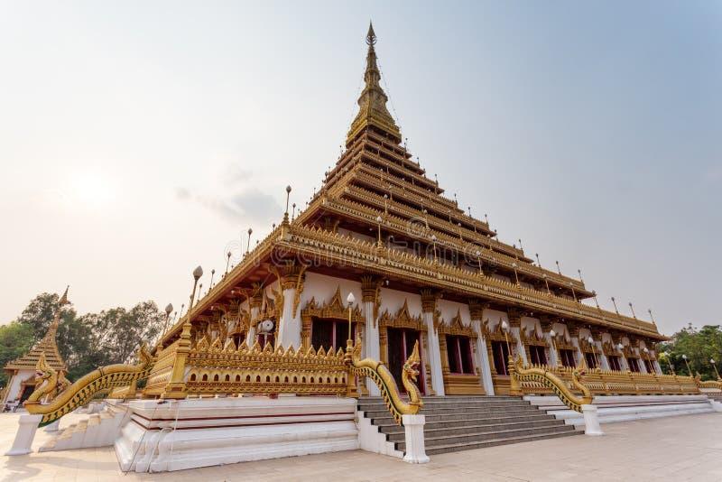 Wat Nong Waeng (tempel), Khonkaen Province, Thailand royaltyfri fotografi