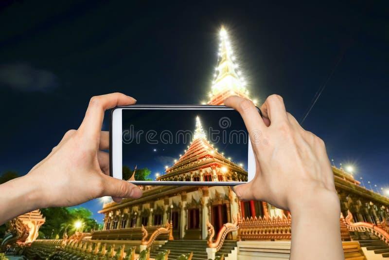 Wat Nong Waeng, templo em Khon Kaen, Tailândia imagens de stock