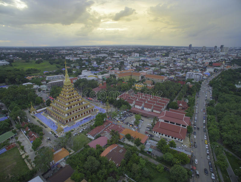 Wat Nong Wang寺庙, Khonkaen泰国 图库摄影