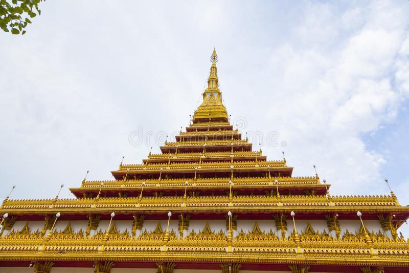Wat Nongwang in Khon Kaen, Thailand. The famous pagoda of Wat Nongwang in Khon Kaen, Thailand stock photo