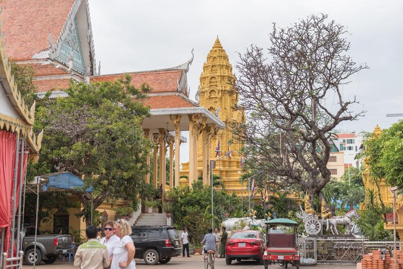 Wat Ounalom, Phnom Penh, Kambodscha lizenzfreie stockfotos