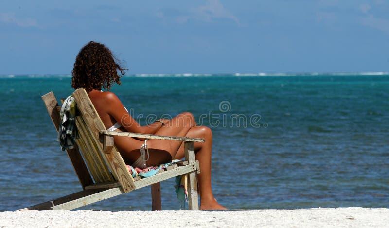 Wat over het zwemmen? - Belize stock foto