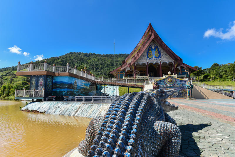 Wat Pa Huay Lad tempel royaltyfria foton