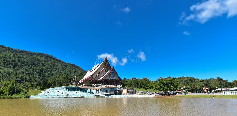 Wat Pa Huay Lad tempel royaltyfri foto