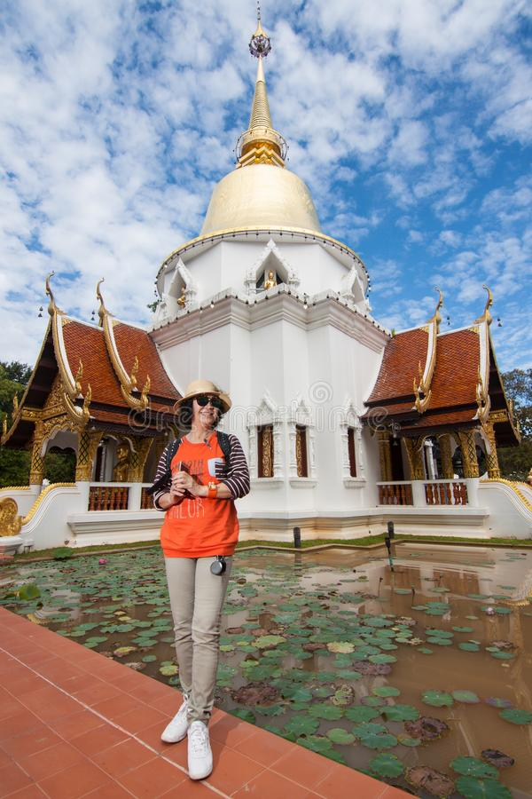 Wat Padarapirom i skogen arkivfoto