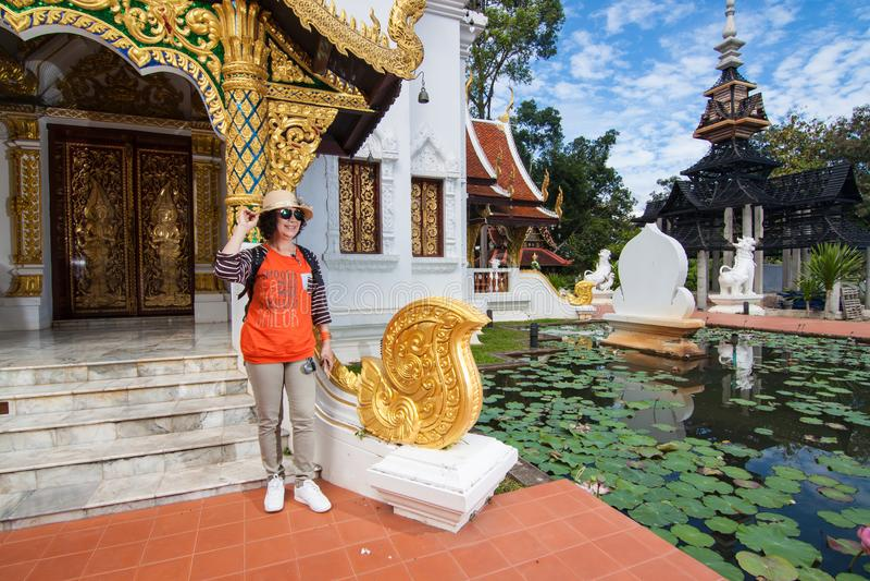 Wat Padarapirom i skogen royaltyfri bild