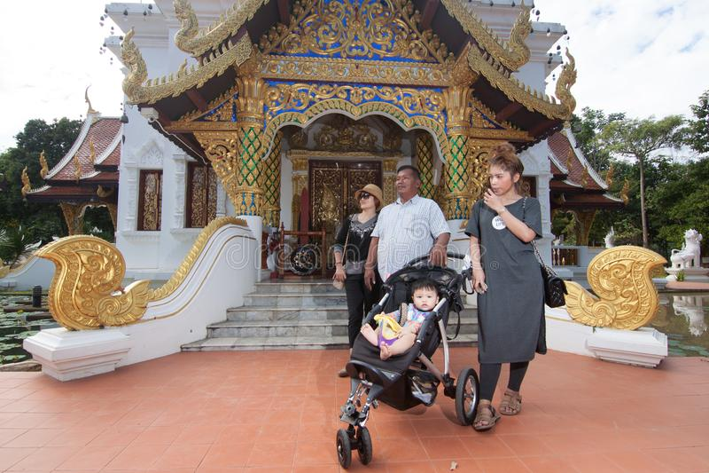 Wat Padarapirom w lesie fotografia stock