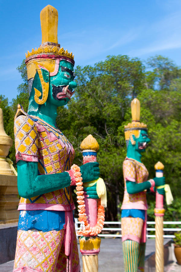 Wat Pagoda Laem Sor, Koh Samui, Tailandia immagini stock libere da diritti