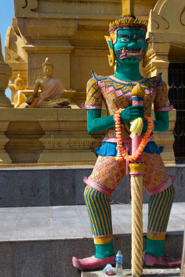Wat Pagoda Laem Sor, Koh Samui, Tailandia fotografie stock libere da diritti
