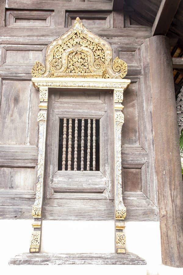 Wat Pan Tao. Detail of Wat Pan Tao, beautiful old wooden teak temple At Chiang Mai - Thailand royalty free stock images