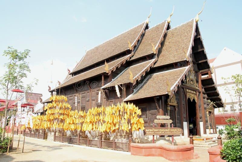 Wat Pan Tao em Chiang Mai imagem de stock royalty free
