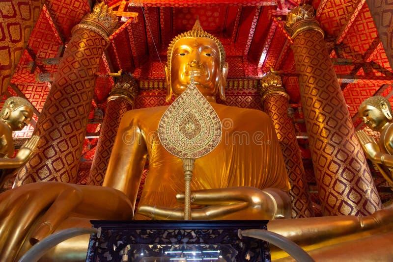 Wat Panancherng висок Ayutthaya который назначение мечты туриста приходя к Таиланду стоковое изображение