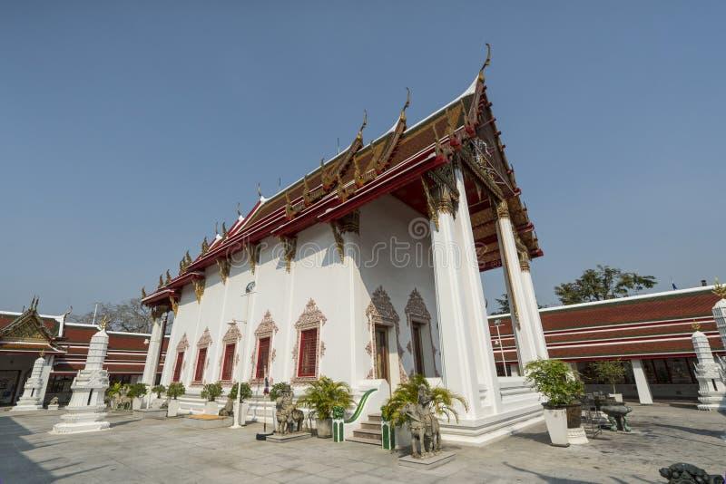 Wat Patumkongka Soi Rachaworawlham寺庙在曼谷 免版税库存照片