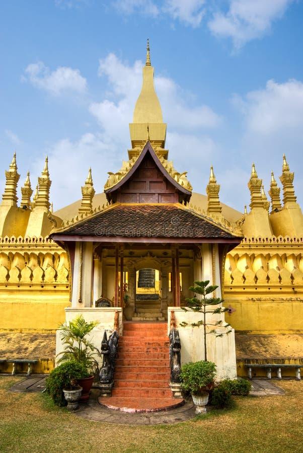 Wat Pha che Luang, Laos. fotografia stock