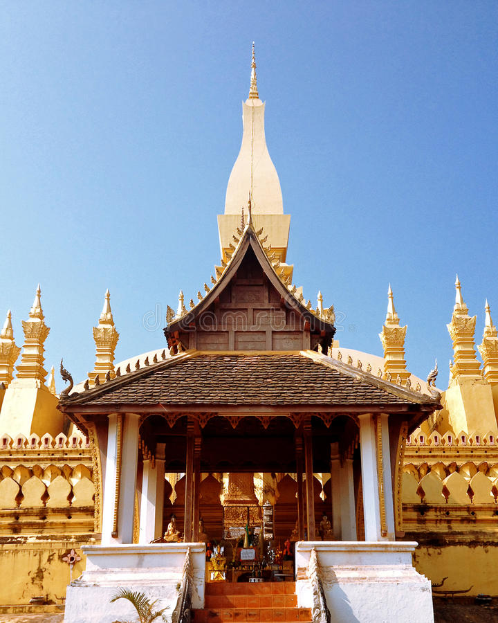 Wat Pha-That Luang (Nationale tempel van Laos) royalty-vrije stock fotografie