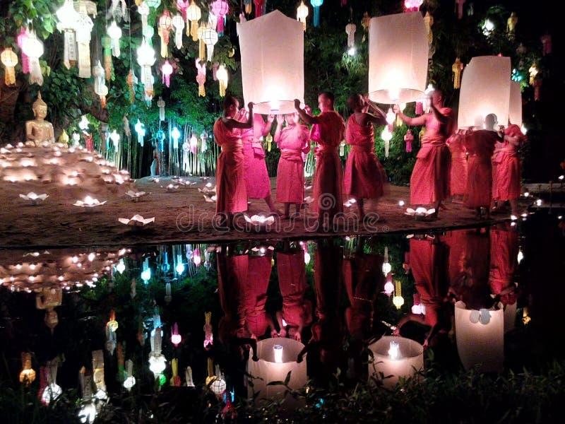 Wat Phan Tao fotografie stock libere da diritti