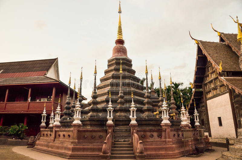 WAt Phan Tao. A chedi locate in Wat Phan Tao, Chiang Mai, Thailand royalty free stock image