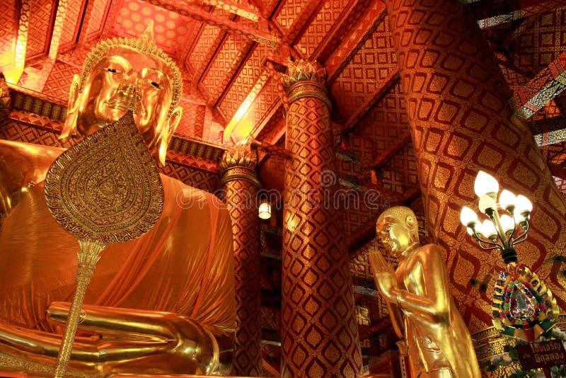 Buddha Image In Wat Phanan Choeng Worawihan, Ayutthaya, Thailand. Wat Phanan Choeng is a Buddhist temple in the city of Ayutthaya, Thailand. Built in 1324, some royalty free stock photography