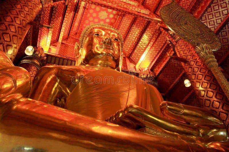 Buddha Image In Wat Phanan Choeng Worawihan, Ayutthaya, Thailand. Wat Phanan Choeng is a Buddhist temple in the city of Ayutthaya, Thailand. Built in 1324, some stock photo