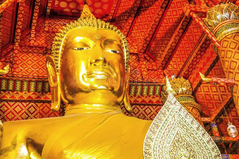 Wat Phanan Choeng is a Buddhist temple The huge Buddha Statue called Luang Pho Tho, Thai people worship Buddha temple at the city. Of Ayutthaya royalty free stock photo