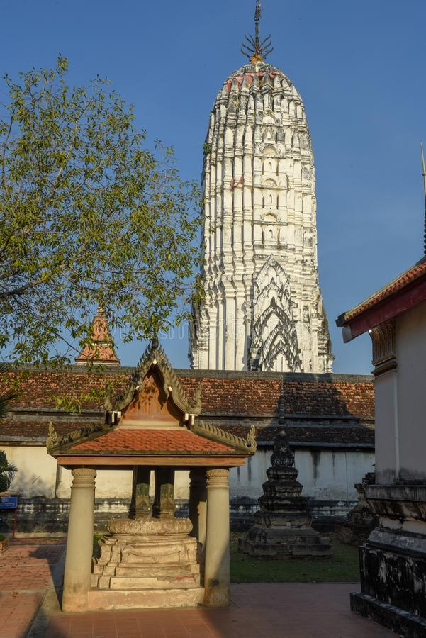 Wat Phanan Choeng temple in Ayutthaya, Thailand. Wat Phanan Choeng temple in Ayutthaya on Thailand stock images