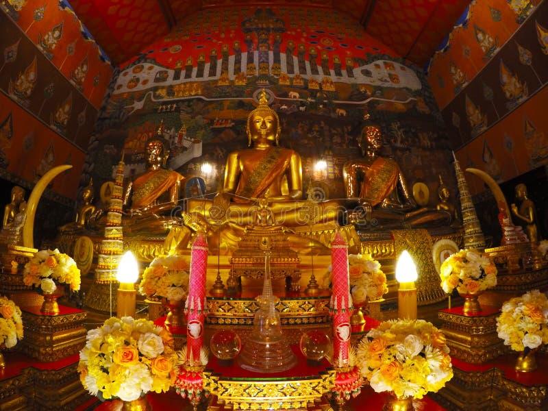 Wat Phanan Choeng w Ayutthaya, Tajlandia obraz royalty free
