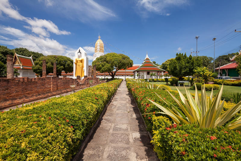 Wat Phar Sri Rattana Mahathat Tempio, Phitsanulok in Tailandia immagine stock