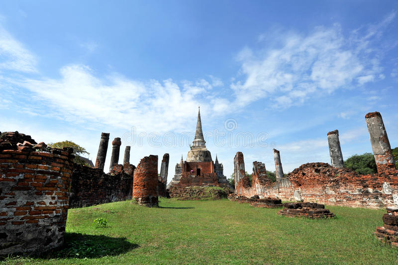 Wat Phar Srisanphet Thailand arkivfoto