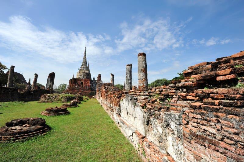 Wat Phar Srisanphet Thailand royaltyfria bilder