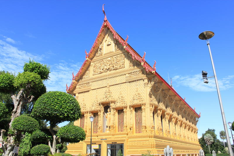 Wat Phasriar, templo no ratchaburi Tailândia fotos de stock royalty free