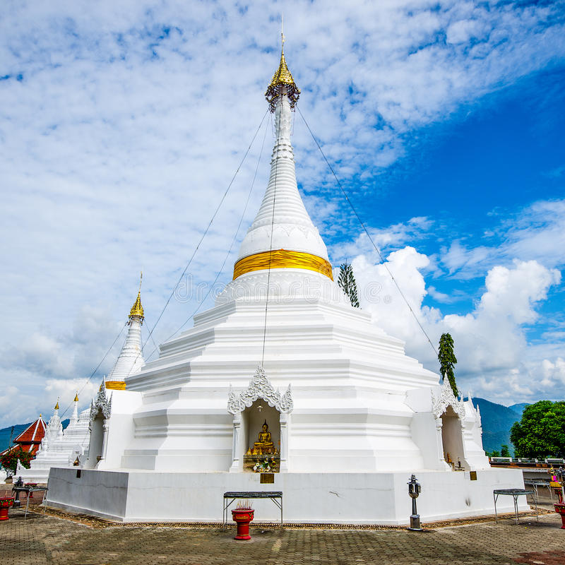 Wat Phatat Doi GongMu in Mae Hong Son Province ,Thailand. Has a famous from traveler Thai people and Foreign stock photos