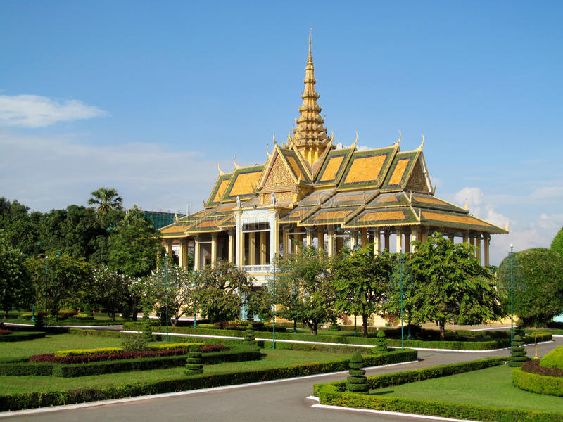 Wat-phnom in Phnom Penh, Kambodscha stockfotografie