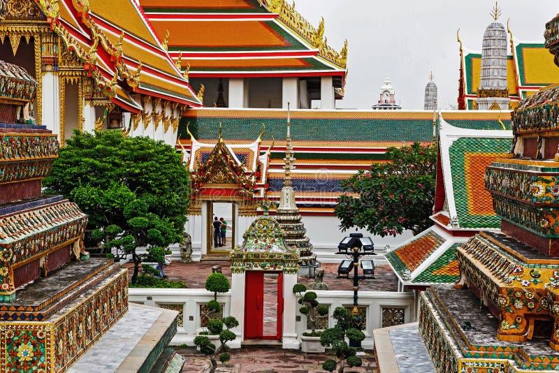 Wat Pho ή ναός του ξαπλώνοντας Βούδα, Μπανγκόκ, Ταϊλάνδη στοκ φωτογραφίες