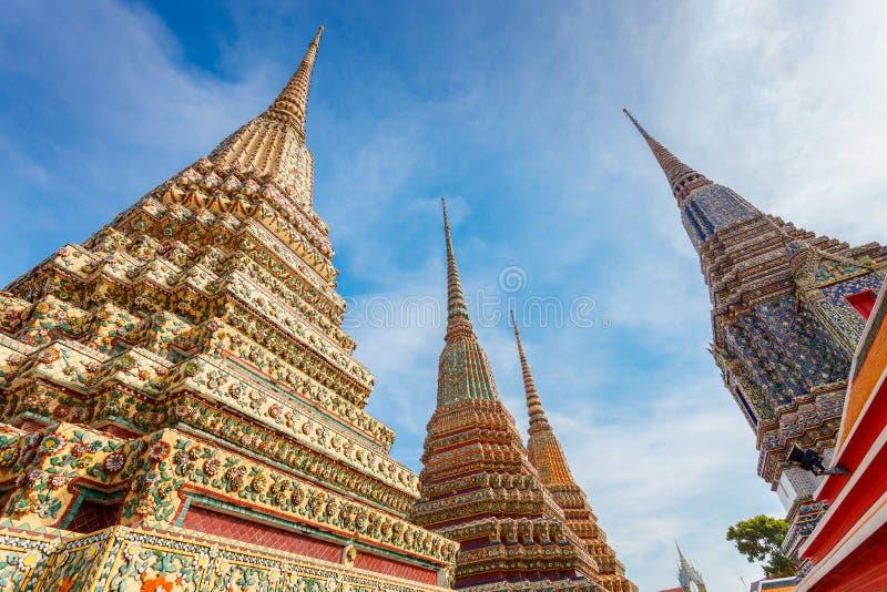 Wat Pho (висок Pho) в Бангкоке стоковое изображение rf