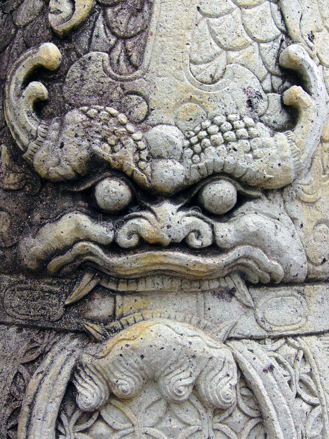 Wat Pho стороны Стоковое фото RF